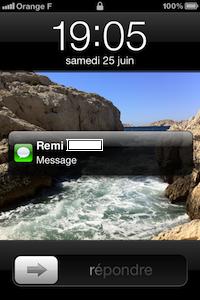 Message apercu iOS 5