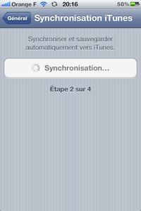 Synchro WiFi iTunes