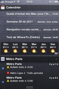 Cal iOS 5.0.4 Centre notification