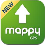 mappy gps v2 un gps gratuit de qualit pour iphone. Black Bedroom Furniture Sets. Home Design Ideas