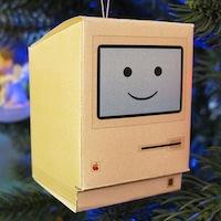 Boule de noel Mac logo