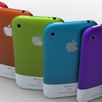 iPhone coloré logo