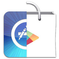 GooglePlay et Apple store logo