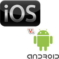 iOS vs Android usage application logo