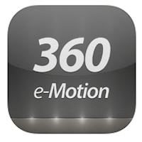 360 e-Motion Video Player logo