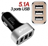 Chargeur iFans Allume-cigare USB TRIO  logo