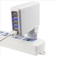 Adaptateur Secteur Universel de Voyage 5 ports USB BrainWizz  logo