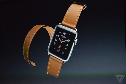 Apple watch hermes 500x334 Résumé keynote (iPhone 6S, iPad Pro, Apple TV 4, watchOS 2...)