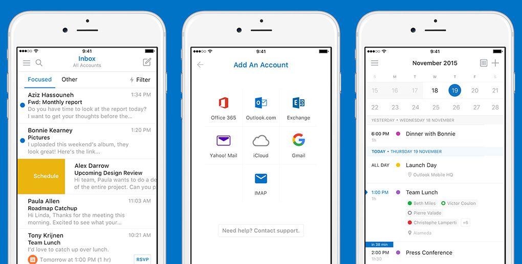 outlook 1 Outlook fait peau neuve sur iOS et gagne quelques fonctionnalités