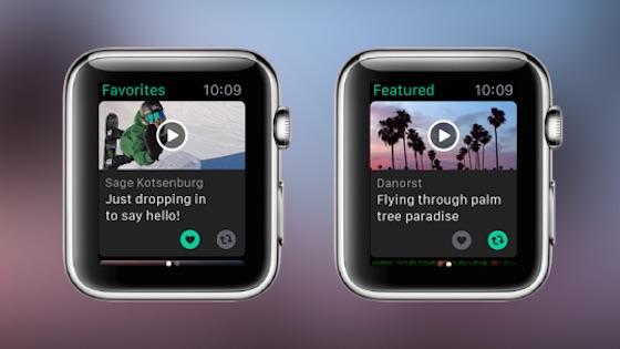 Vine Application Apple Watch Les vidéos de Vine débarquent sur lApple Watch