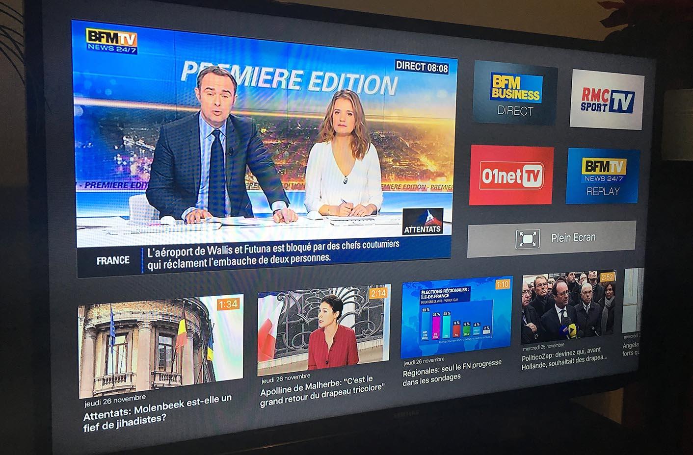 bfmtv apple tv 4 1 BFMTV lance son application sur lApple TV 4 !