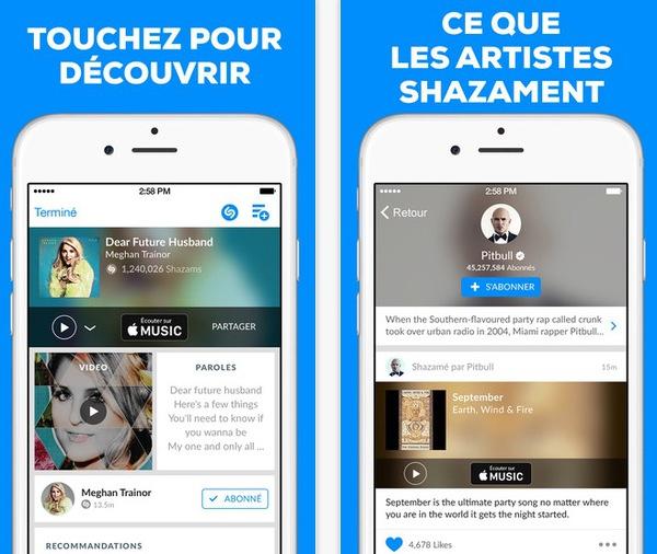 shazam 1 Shazam 9.2 améliore sa reconnaissance de titres !