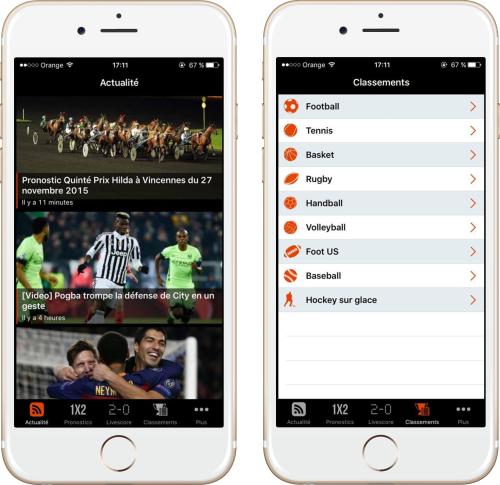 paris sportifs iphone 500x485 Pariez sur iOS avec lapp Paris Sportifs