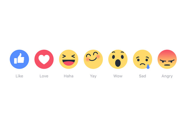 facebook reactions La mention « jaime » perd son monopole sur Facebook