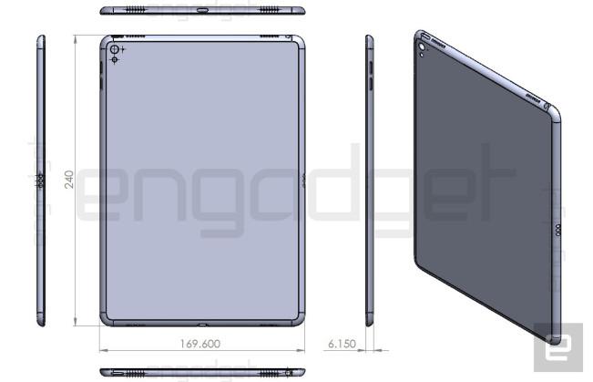 ipad air 3 schema e1454355780850 iPad Air 3 : les rumeurs confirmés par un schéma industriel