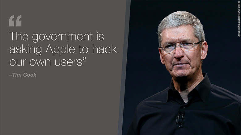 tim cook 1 Le FBI force Apple à débloquer liPhone dun meurtrier, Tim Cook sy oppose
