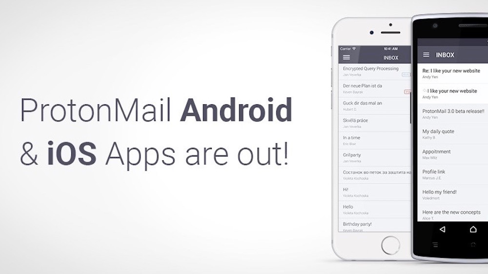 ProtonMail iOS ProtonMail, une application gratuite pour envoyer et recevoir des mails cryptés