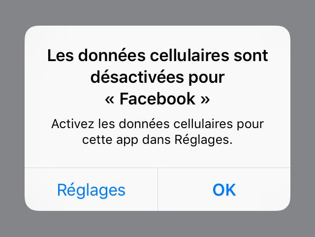 donnees cellulaires applications facebook Astuce : comment empêcher des applications spécifiques dutiliser vos données cellulaires
