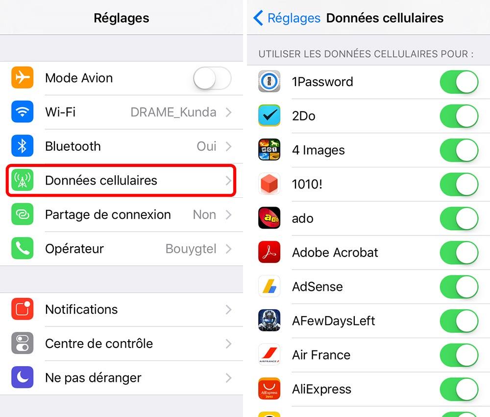 donnees cellulaires applications ios 9 Astuce : comment empêcher des applications spécifiques dutiliser vos données cellulaires