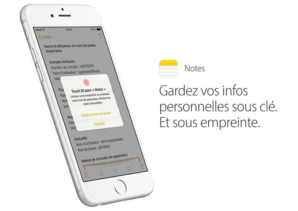 notes securisees ios 9 3 Astuce : comment sécuriser vos notes avec iOS 9.3