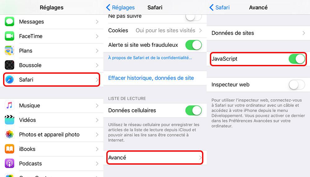 safari desactiver javascript Crash sur les liens dans iOS : bientôt un correctif proposé par Apple