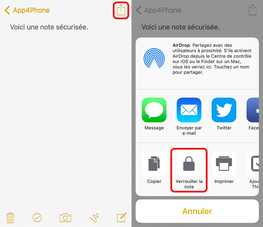 verrouillage note ios Astuce : comment sécuriser vos notes avec iOS 9.3