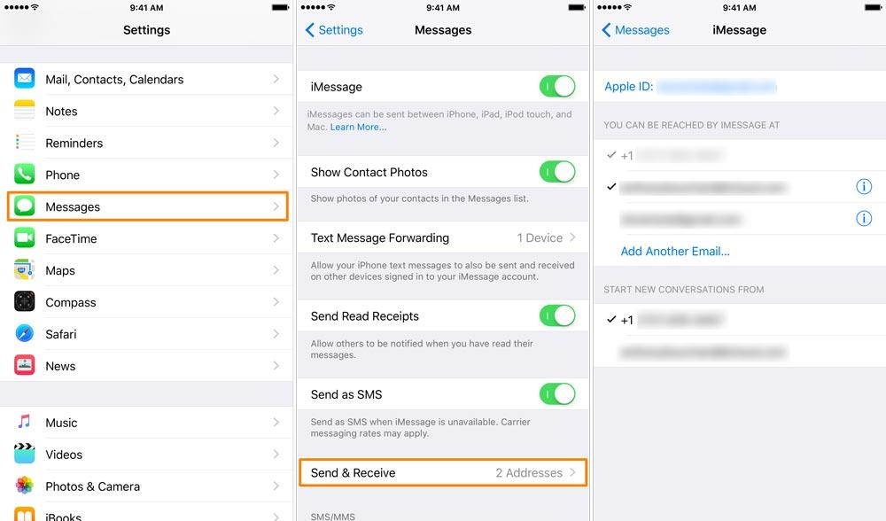 Changing Default iMessage email address in iOS [Astuce] Comment changer ladresse email de laquelle sont envoyés les iMessages