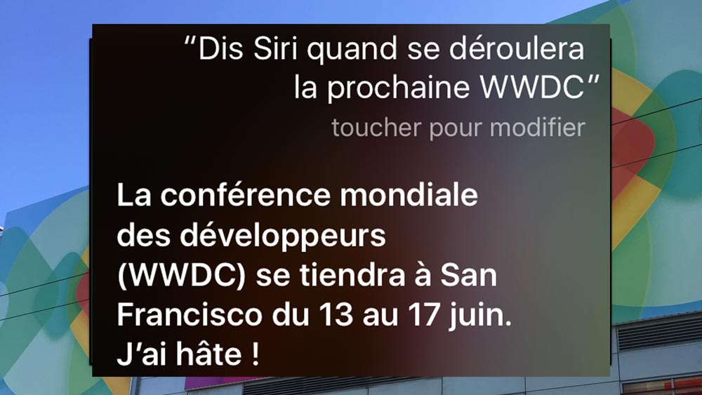 siri wwdc 2016 La WWDC 2016 aura lieu du 13 au 17 juin selon Siri