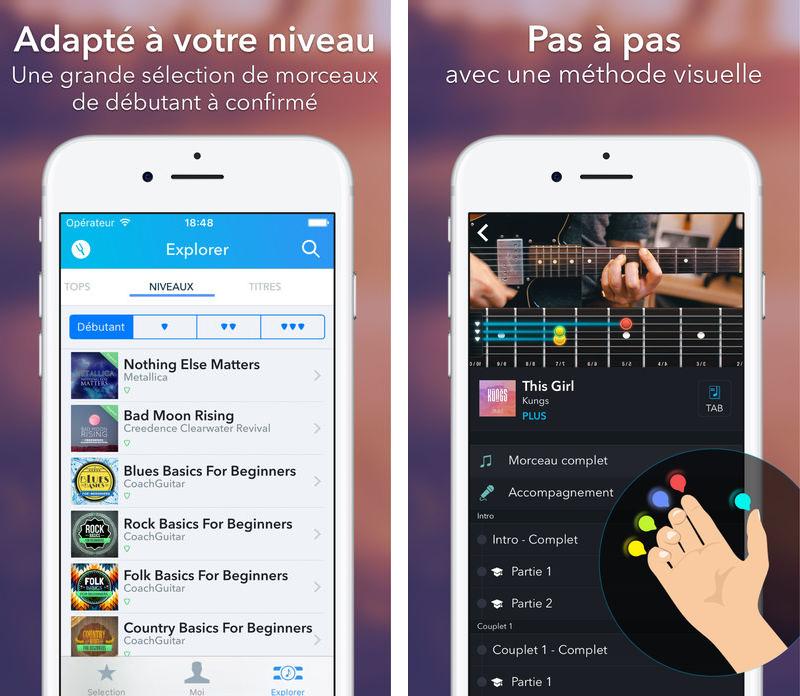 CoachGuitar 2 CoachGuitar : lapplication qui vous permet dapprendre la guitare sur iPhone et iPad