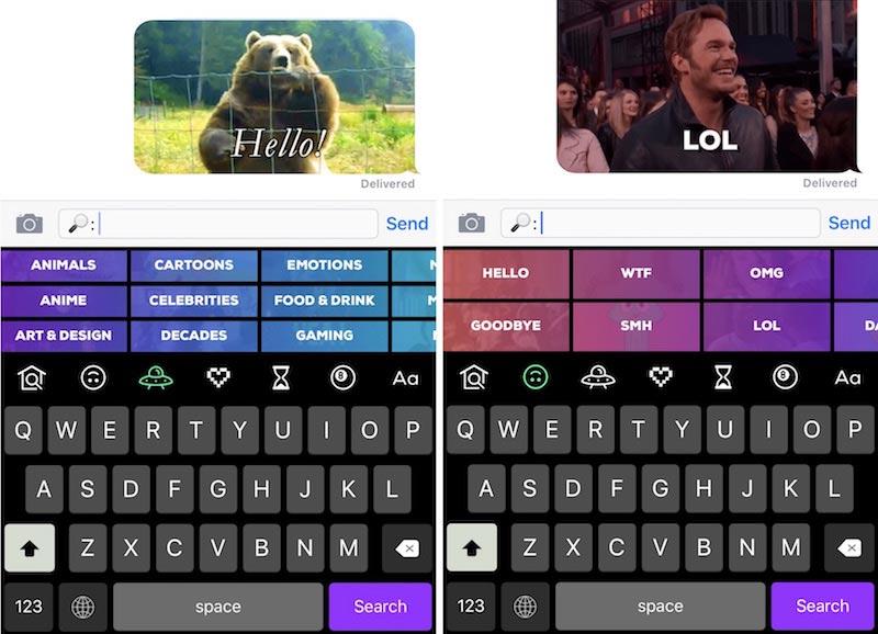 Giphy keys Giphy Keys : un nouveau clavier iOS pour partager facilement des Gifs