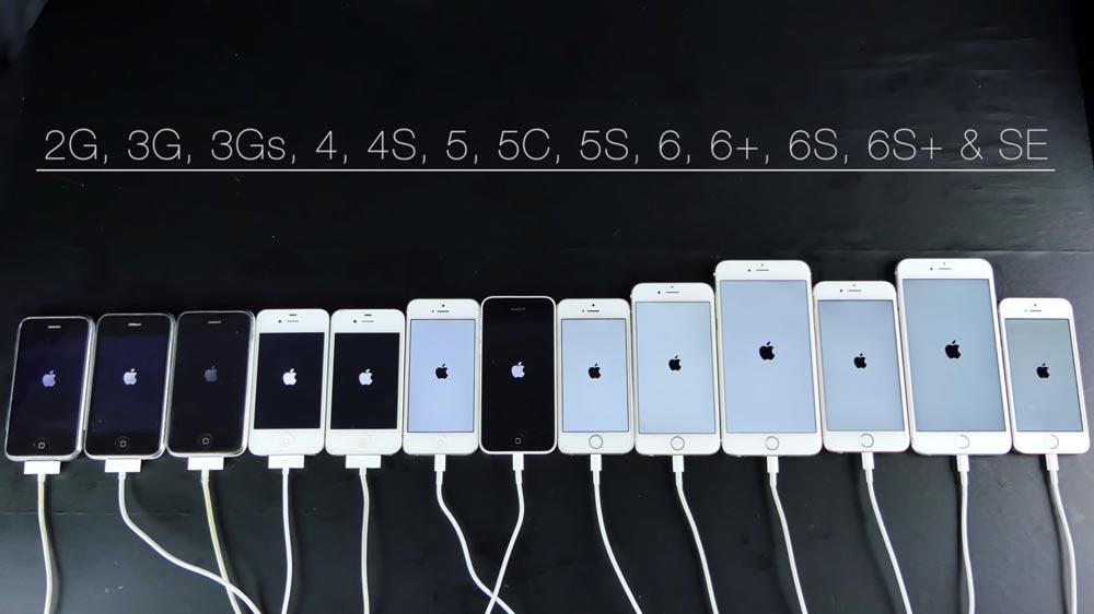 comparatif iphone 2007 2016 [Vidéo] iPhone 2007 2016 : comparatif de vitesse