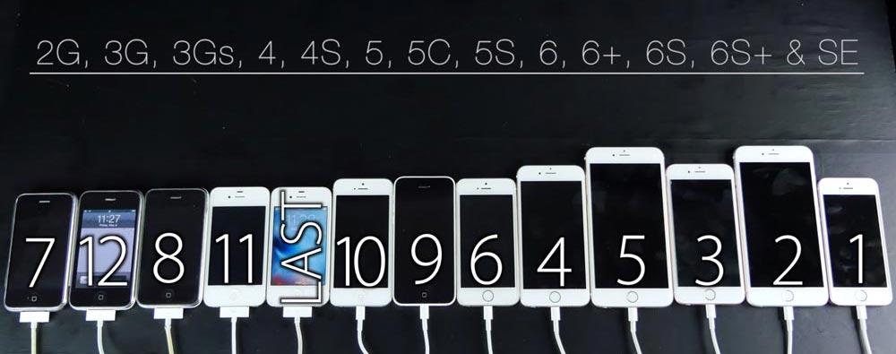 test dallumage iphone 2007 2016 [Vidéo] iPhone 2007 2016 : comparatif de vitesse