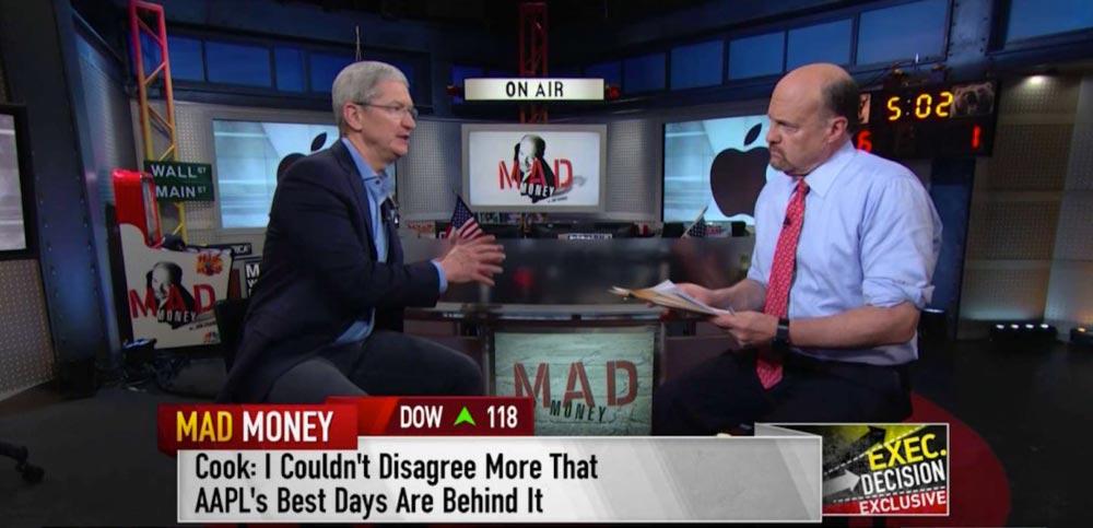 tim cook interview cnbc Tim Cook réagit à la baisse de laction AAPL et annonce des innovations sur la CNBC