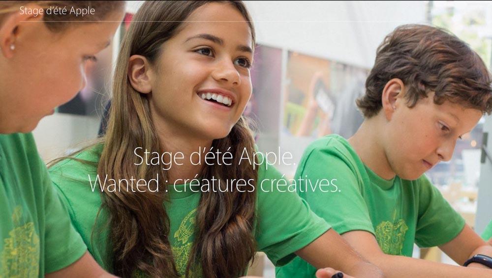 Stage Ete 2016 Apple Store France Ouverture des inscriptions aux stages dété dApple pour vos enfants