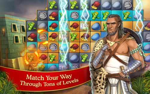 cradle of empires match 3 500x313 Cradle of Empires : un jeu de match 3 dans lEgypte antique