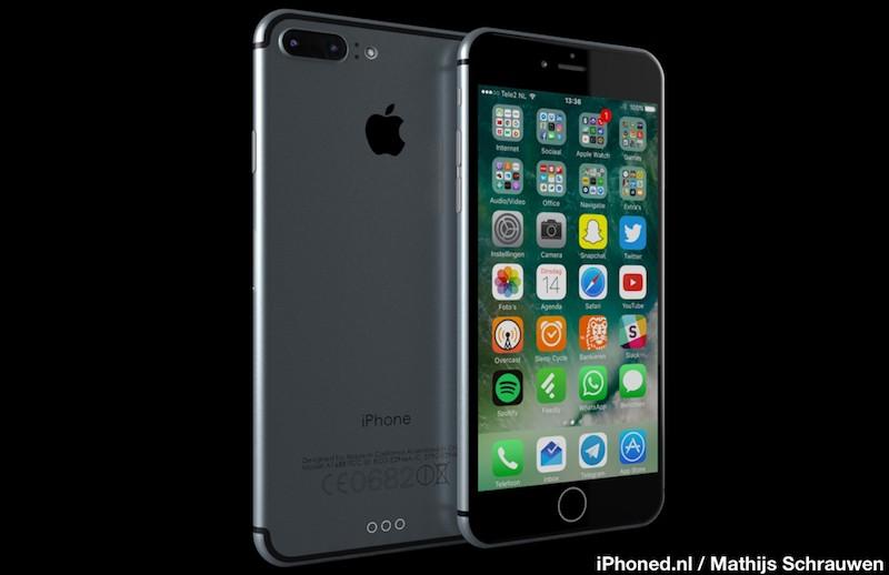 iPhone 7 render 1 800x518 iPhone 7 Plus : 256 Go de stockage, EarPods lightning et adaptateur Jack