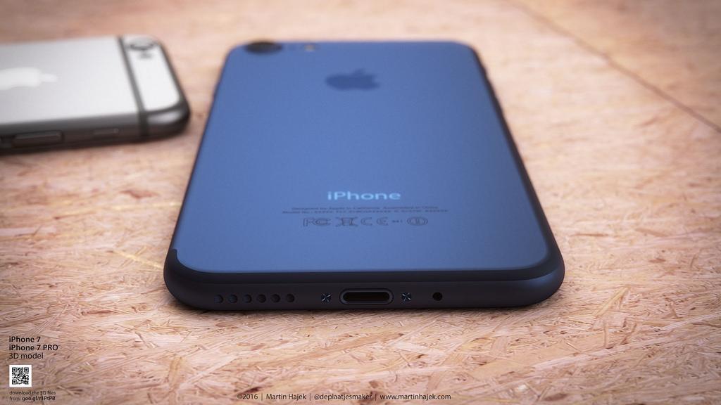 iphone 7 bleu fonce 3 iPhone 7 Bleu foncé : le concept de Martin Hajek