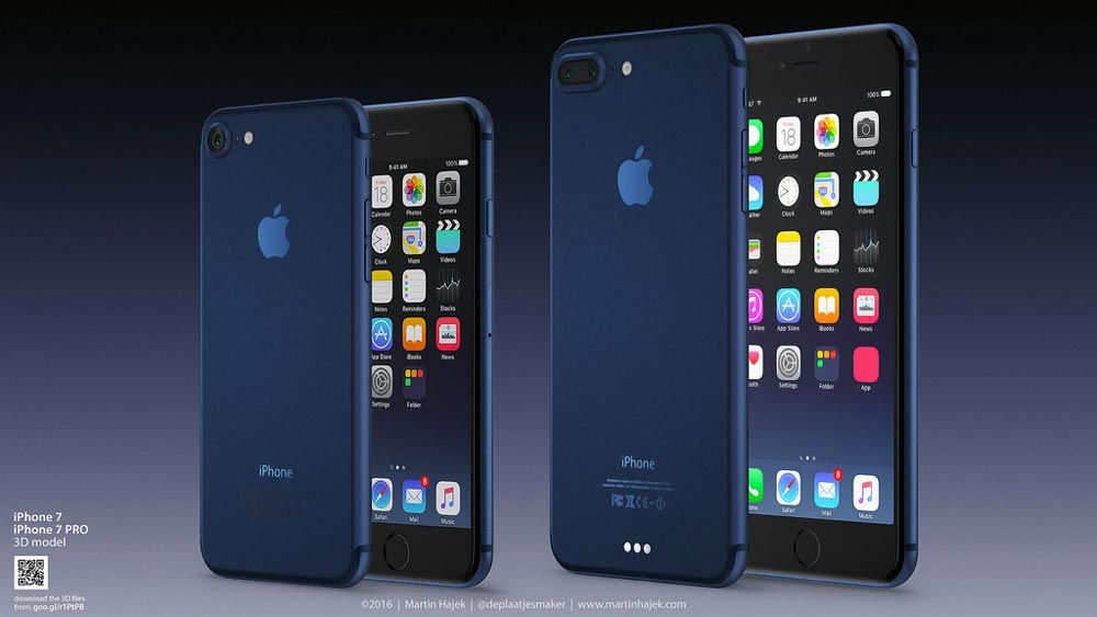 iphone 7 bleu fonce iPhone 7 Bleu foncé : le concept de Martin Hajek