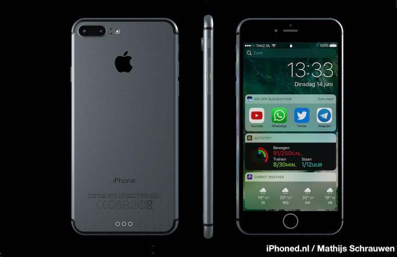 iphone 7 render 5 800x518 Un concept diPhone 7 sous iOS 10 par Mathijs Schrauwen