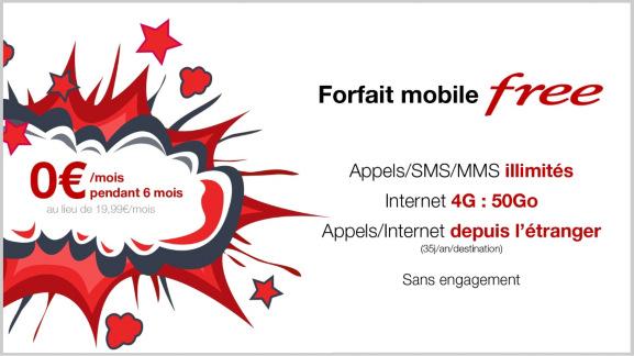 Offres mobile : 6 mois de gratuité avec Free ou un an à 3,99€/mois avec Bouygues