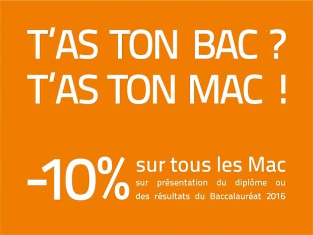 bac mac Bachelier ? Profitez dune réduction de 10% sur tous les Mac !