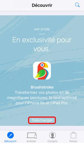 brushstroke apple store decouvrir promo 293x500 Apple vous offre lapplication Brushstroke !