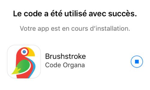 brushstroke apple store installation 500x302 Apple vous offre lapplication Brushstroke !