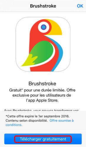 brushstroke apple store telecharger 292x500 Apple vous offre lapplication Brushstroke !