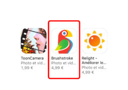 Apple vous offre l'application Brushstroke !