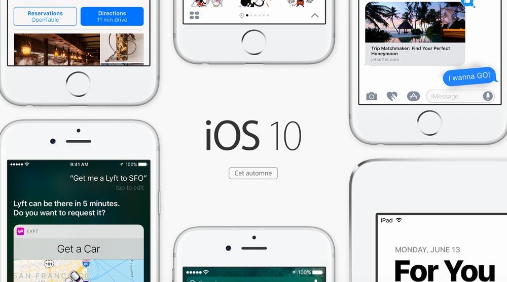 ios 10 fr iOS 10 bêta 8 développeurs et 7 bêta testeurs publics est disponible !