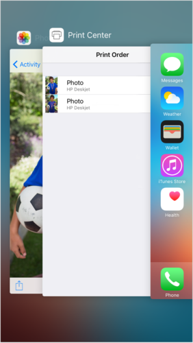iphone6 ios9 printcenter appswitcher print job 282x500 Tuto : accélérer son iPhone, iPad ou iPod touch sous iOS 9