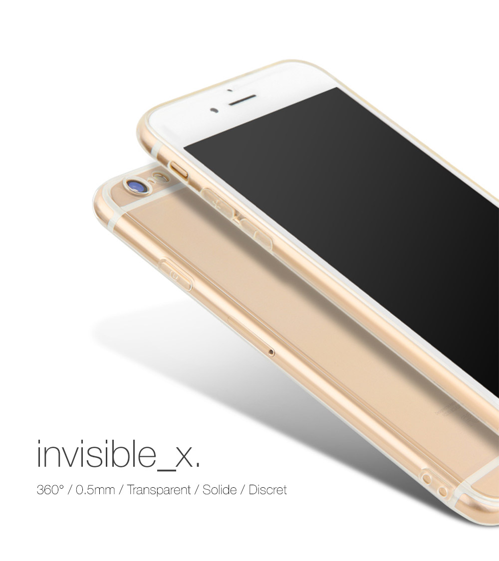 cover invX Invisible X : Coque iPhone 7 & 7 Plus, ultra fine avec protection décran