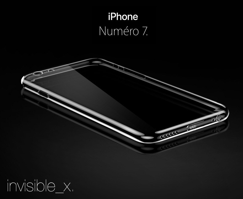 iphone7 coque invisible Invisible X : Coque iPhone 7 & 7 Plus, ultra fine avec protection décran
