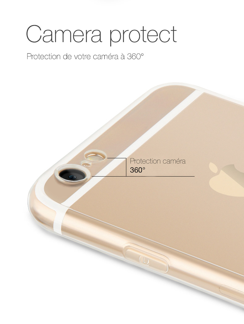 pic1 Invisible X : Coque iPhone 7 & 7 Plus, ultra fine avec protection décran